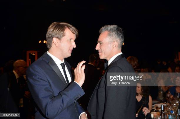 Director Tom Hooper and actor Daniel DayLewis attend the 19th Annual Screen Actors Guild Awards at The Shrine Auditorium on January 27 2013 in Los...