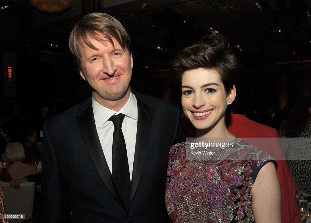 Director Tom Hooper and actress Anne Hathaway attend the 65th Annual Directors Guild Of America Awards at Ray Dolby Ballroom at Hollywood & Highland on February 2, 2013 in Los Angeles, California.