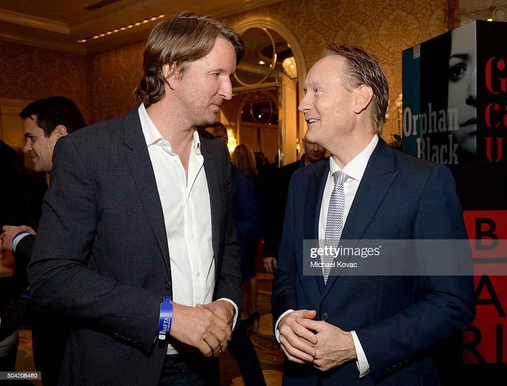 Director Tom Hooper (L) and British Consul General in Los Angeles Chris O'Connor attends the BAFTA Los Angeles Awards Season Tea at Four Seasons Hotel Los Angeles at Beverly Hills on January 9, 2016 in Los Angeles, California.