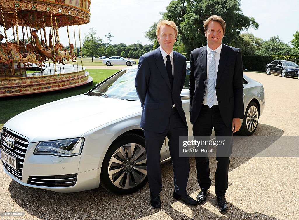 Director <a gi-track='captionPersonalityLinkClicked' href=/galleries/search?phrase=Tom+Hooper&family=editorial&specificpeople=681836 ng-click='$event.stopPropagation()'>Tom Hooper</a> (R) and brother Ben attend Ladies Day hosted by Audi at Glorious Goodwood held at Goodwood Racecourse on August 1, 2013 in Chichester, England.