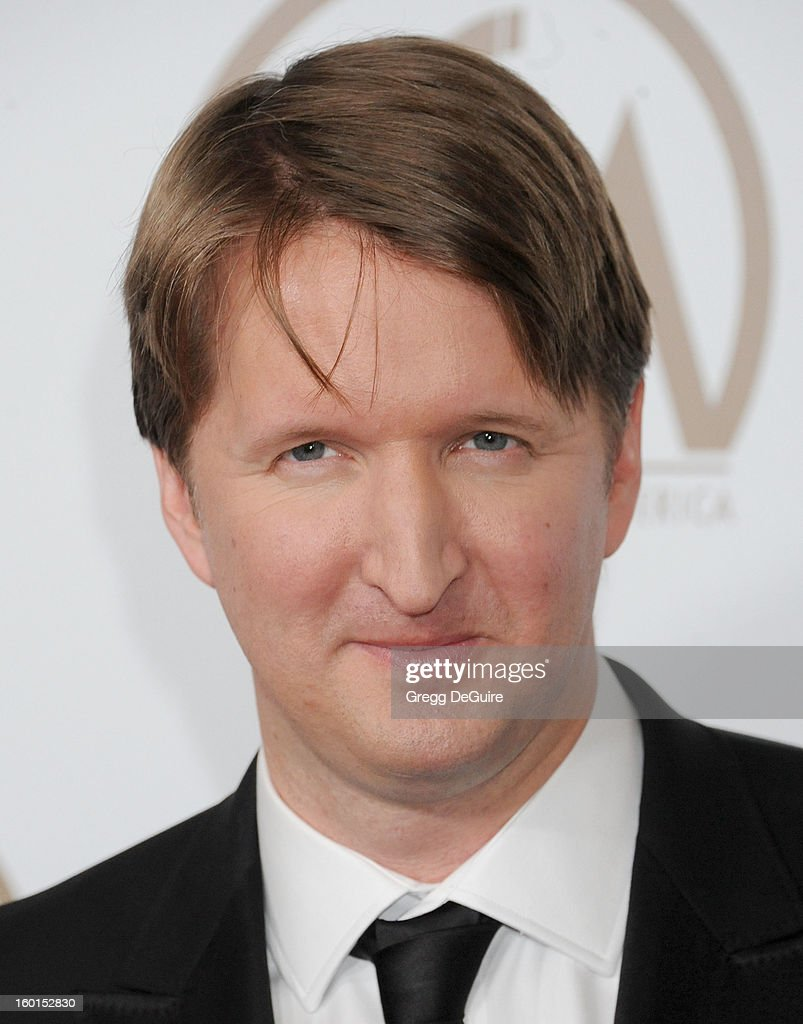 Director Tom Hooper arrives at the 24th Annual Producers Guild Awards at The Beverly Hilton Hotel on January 26, 2013 in Beverly Hills, California.