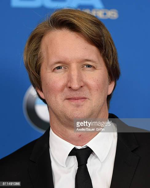 Director Tom Hooper arrives at the 68th Annual Directors Guild of America Awards at the Hyatt Regency Century Plaza on February 6 2016 in Los Angeles...