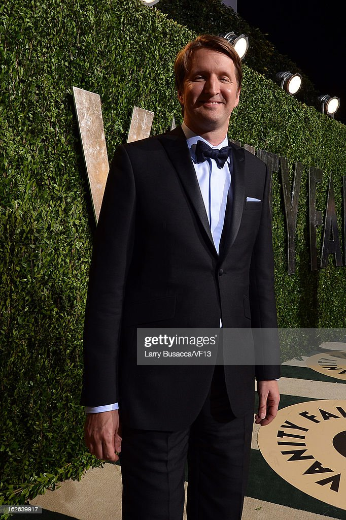 Director Tom Hooper arrives for the 2013 Vanity Fair Oscar Party hosted by Graydon Carter at Sunset Tower on February 24, 2013 in West Hollywood, California.