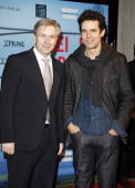Director Tom Tykwer and Berlin mayjor Klaus Wowereit attend the premiere of 'Drei' at Delphi on December 13 2010 in Berlin Germany