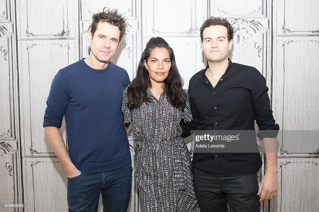 Director Tom Tykwer Sarita Choudhury and Alexander Black attend 'A Hologram For The King' at AOL Studios In New York on April 21 2016 in New York City