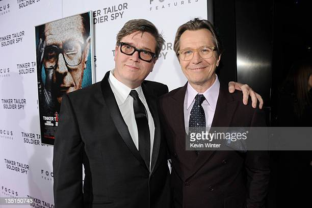 Director Tomas Alfredson and actor Gary Oldman arrive at the premiere of Focus Features' 'Tinker Tailor Soldier Spy' at Arclight Cinema's Cinerama...