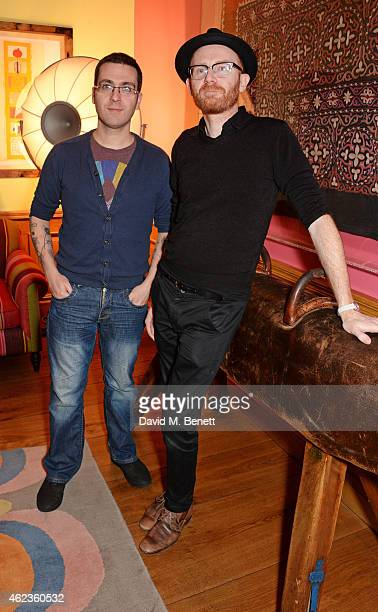 Director Tomm Moore and producer Paul Young attend a special screening and QA for 'Song Of The Sea' at The Soho Hotel on January 27 2015 in London...