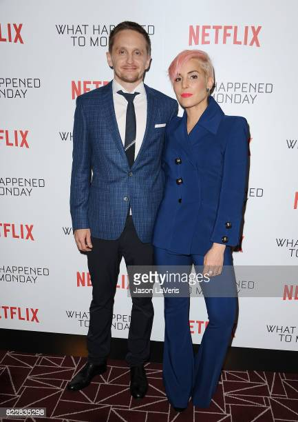 Director Tommy Wirkola and actress Noomi Rapace attends a screening of 'What Happened To Monday' at The London West Hollywood on July 25 2017 in West...