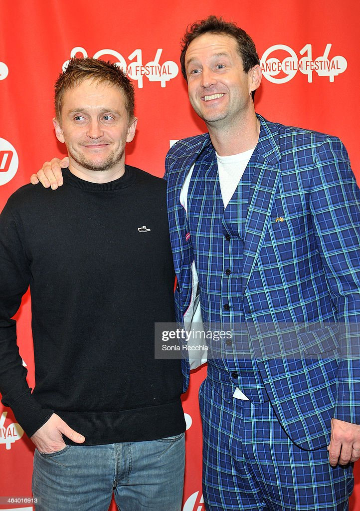 Director Tommy Wirkola (L) and Sundance Film Festival director of programming Trevor Groth attend the 'Dead Snow; Red vs. Dead' premiere at Library Center Theater during the 2014 Sundance Film Festival on January 19, 2014 in Park City, Utah.