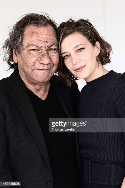 Director Tony Gatlif and actresse Celine Sallette are photographed for Self Assignment on May 21 2014 in Cannes France