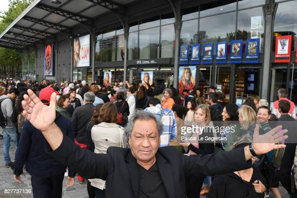 Director Tony Gatlif attends the Paris Premiere of the film 'Djam' on August 8 2017 in Paris France