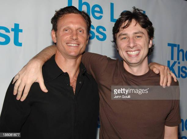 Director Tony Goldwyn and Zach Braff during 'The Last Kiss' Listening Party at Privilege in Hollywood California United States