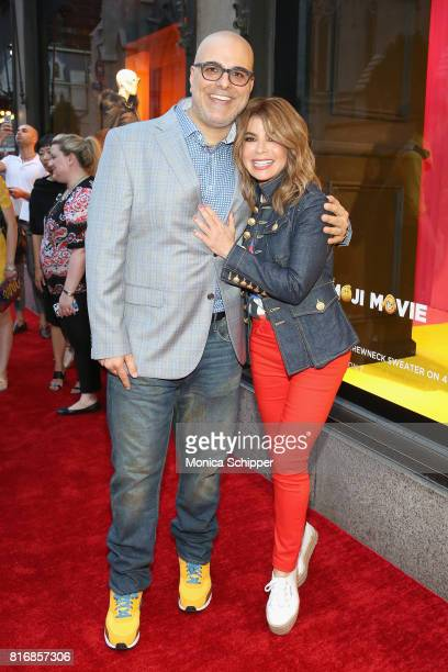 Director Tony Leondis and Paula Abdul attend the Saks Fifth Avenue and Sony Picture Animation's celebration of 'The Emoji Movie' at Saks Fifth Avenue...