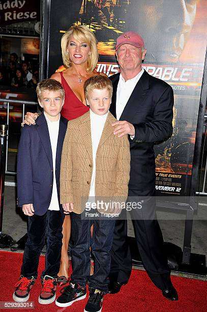 Director Tony Scott and family arrive at the premiere of 'Unstoppable' held at the Regency Village Theater in Westwood