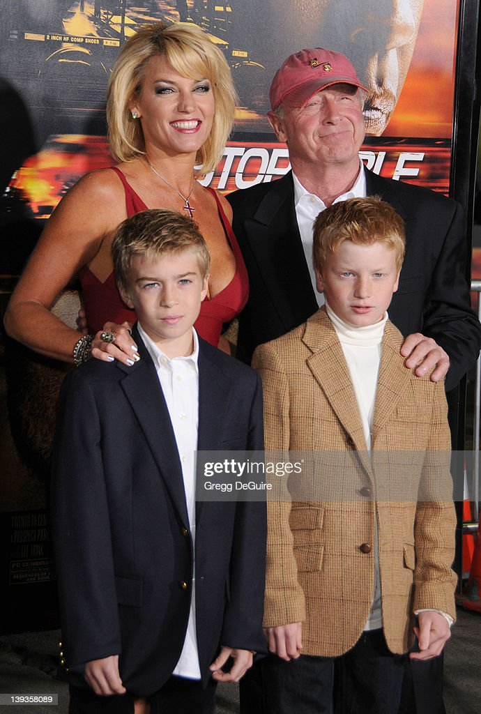 Director Tony Scott and family arrive at the World Premiere of 'Unstoppable' at the Regency Village Theater on October 26 2010 in Westwood California