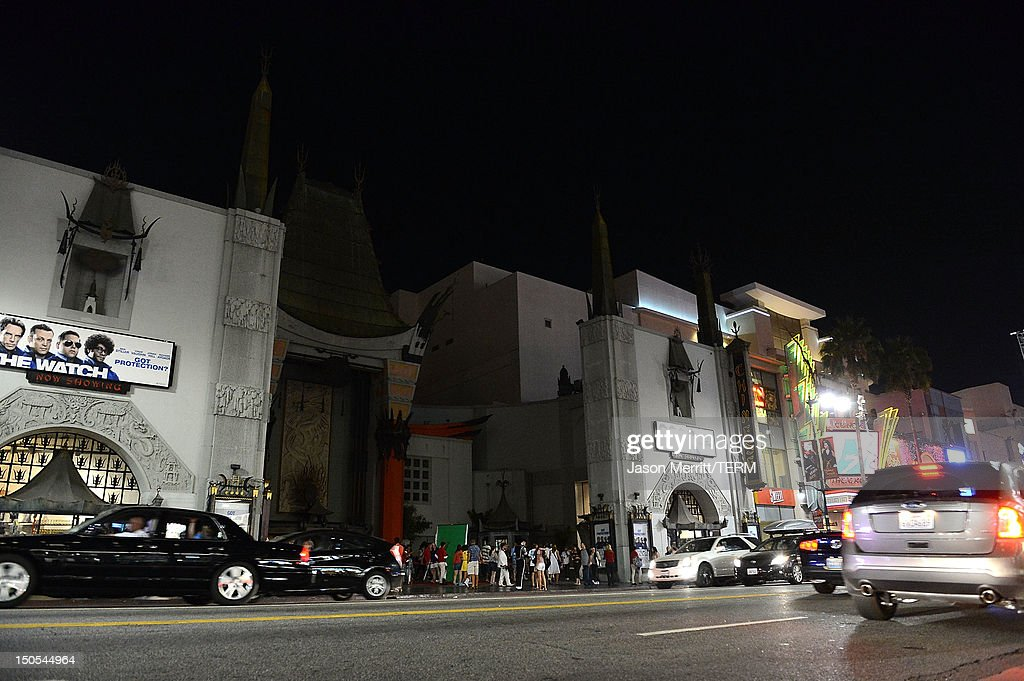 Director Tony Scott is remembered with a dimming of lights tribute for one minute in the forecourt of the Grauman's Chinese Theatre on August 20 2012...