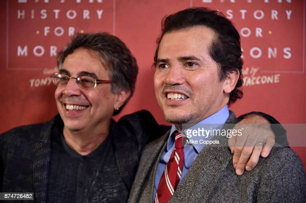 Director Tony Taccone and Actor John Leguizamo pose for a photos at 'Latin History For Morons' Broadway Opening Night at Studio 54 on November 15...