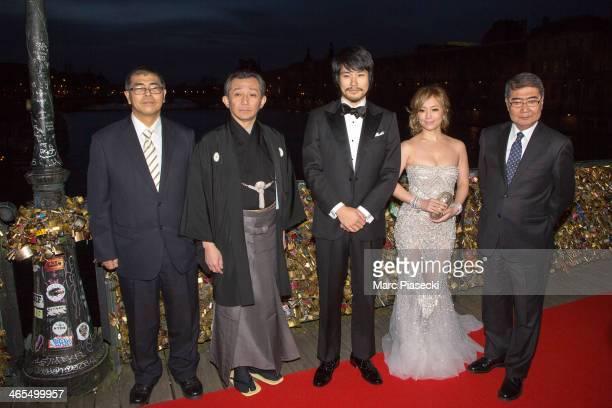 Director Toshiaki Imamura Kiyokazu Kanze Actor Kenichi Matsuyama Singer Ayumi Hamasaki and Executive Producer Kozo Morishita attend the 'Buddha 2'...