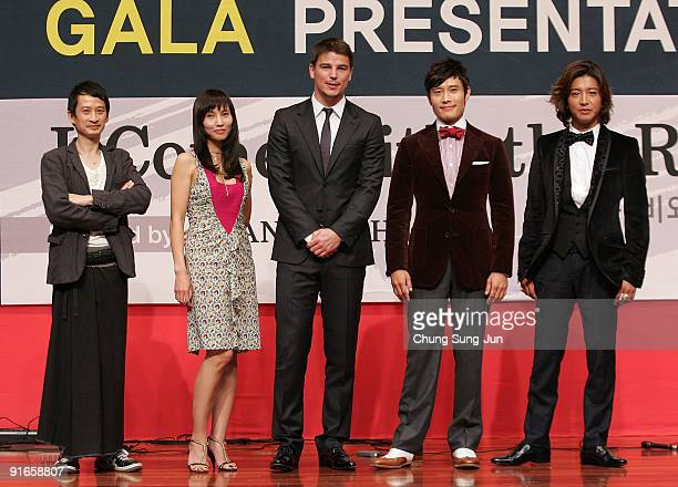 Director Tran Anh Hung actress Tran NuYen actor Josh Hartnett Lee ByungHun and Takuya Kimura attend the Press ConferenceGala Presentation 'I Come...