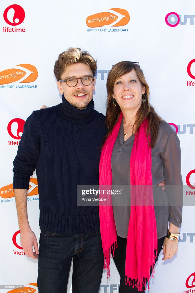 Director Travis Matthews and Executive Director Kristen Schaffer arrive to Outfest Queer Brunch - 2013 Park City on January 20, 2013 in Park City, Utah.