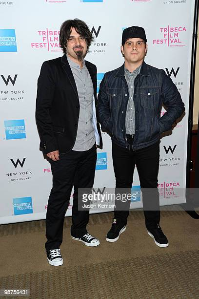 Director Travis Senger and actor Scandar Copti attend the Awards Night Show Party during the 2010 Tribeca Film Festival at the W New York Union...