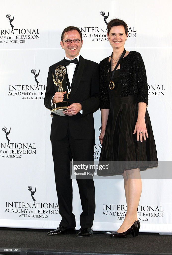 Director Trishan Chytroschek and Susanne Marlens attend the 40th Annual International Emmy Awards at the Hilton New York on November 19, 2012 in New York City.