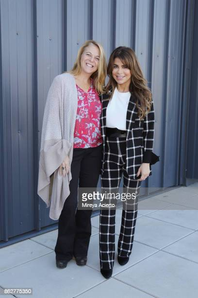 Director Turnaround Arts Initiative Kathy Fletcher and singersongwriter/dancer Paula Abdul and Turnaround Arts Students film Turnaround Arts music...