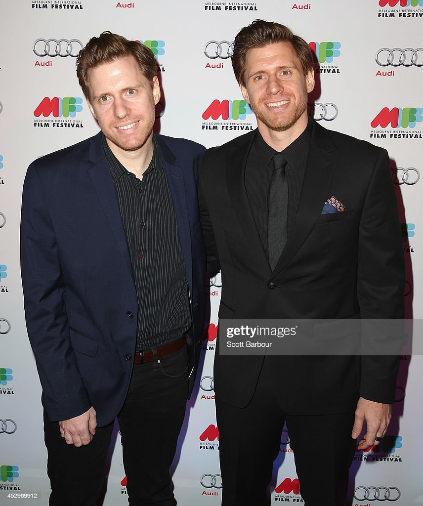 Director twin brothers <a gi-track='captionPersonalityLinkClicked' href=/galleries/search?phrase=Michael+Spierig&family=editorial&specificpeople=3169230 ng-click='$event.stopPropagation()'>Michael Spierig</a> and <a gi-track='captionPersonalityLinkClicked' href=/galleries/search?phrase=Peter+Spierig&family=editorial&specificpeople=3169232 ng-click='$event.stopPropagation()'>Peter Spierig</a> pose as they attend the opening night of the 63rd Melbourne International Film Festival at Hamer Hall on July 31, 2014 in Melbourne, Australia.