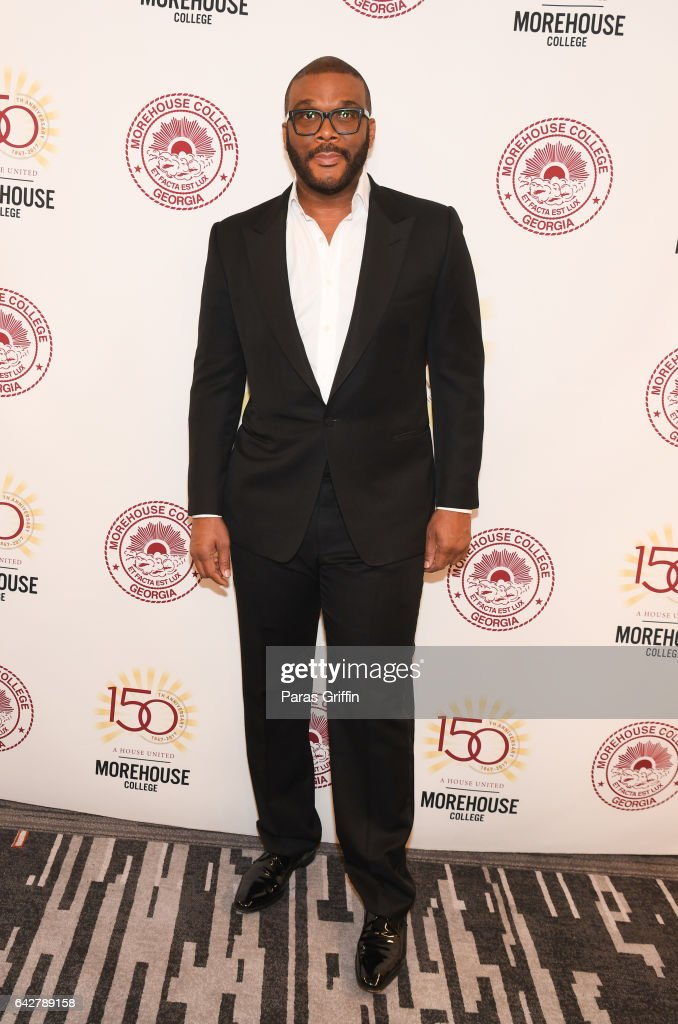 Director Tyler Perry attend Morehouse College 150th Anniversary: 29th Annual 'A Candle In The Dark' Gala at The Hyatt Regency Atlanta on February 18, 2017 in Atlanta, Georgia.