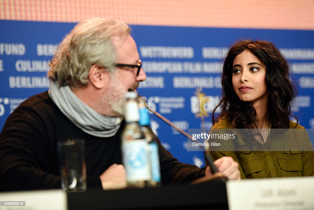 Director Udi Aloni and actress Samar Qupty attend the 'Junction 48' press conference during the 66th Berlinale International Film Festival Berlin at Grand Hyatt Hotel on February 13, 2016 in Berlin, Germany.