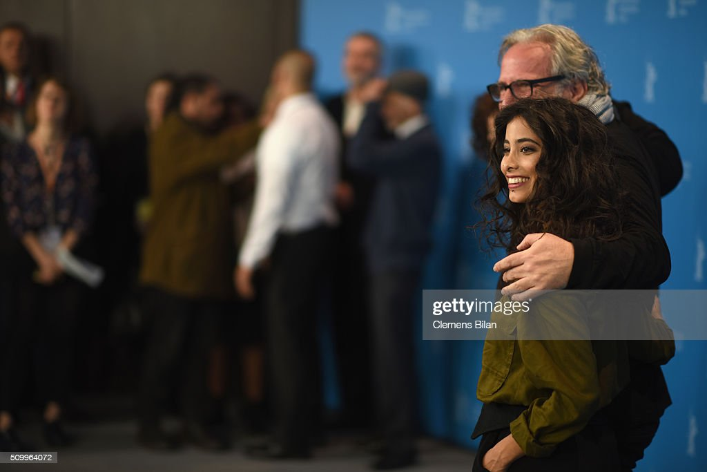 Director Udi Aloni and actress Samar Qupty attend the 'Junction 48' photo call during the 66th Berlinale International Film Festival Berlin at Grand Hyatt Hotel on February 13, 2016 in Berlin, Germany.