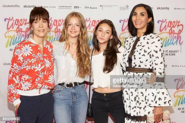 Director Ute Wieland actors Flora Li Thiemann Emily Kusche and Narges Rashidi attend the 'Tigermilch' premiere at Kino in der Kulturbrauerei on...