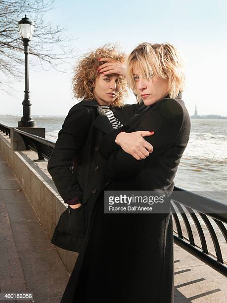 Director Valeria Bruni Tedeschi and actress Valeria Golino are photographed for Vanity Fair Italy on April 23 2014 in New York City