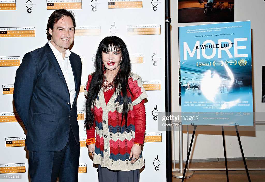 Director Victor Buhler and executive producer Loreen Arbus attend the 'A Whole Lott More' screening at JCC in Manhattan on March 10, 2014 in New York City.