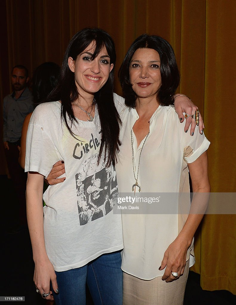 Director Virginia Cassavetes (L) and actress <a gi-track='captionPersonalityLinkClicked' href=/galleries/search?phrase=Shohreh+Aghdashloo&family=editorial&specificpeople=210536 ng-click='$event.stopPropagation()'>Shohreh Aghdashloo</a> attend the 2013 Palm Springs ShortFest 'Shooting Stars' Screening held at the Camelot theater on June 21, 2013 in Palm Springs, California.
