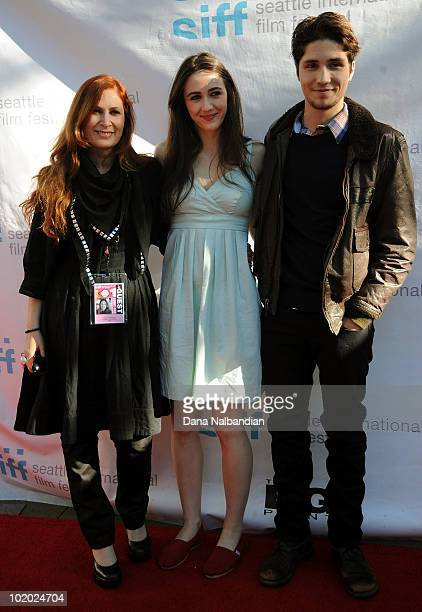 Director Vivi Friedman with Actors Madeline Zima and Jonathan Patrick Amedor arrive for the showing of The Family at McCaw Hall on June 12 2010 in...