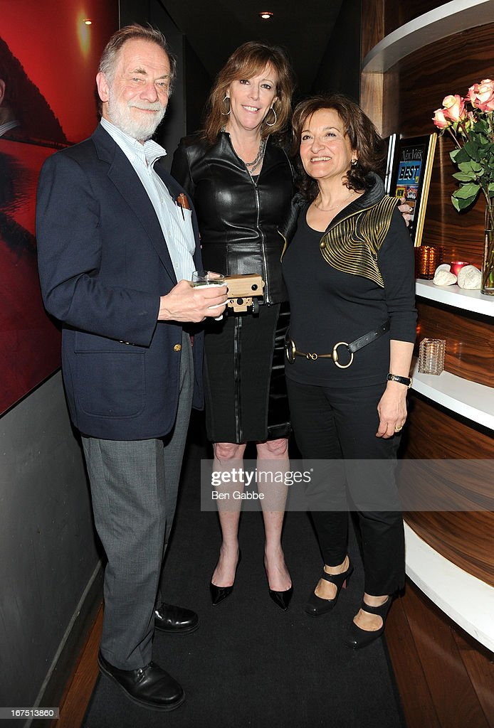 Director Vivienne Roumani and husband with Tribeca Film Festival Co Founder Jane Rosenthal attends the 'Out of Print' Tribeca Film Festival After Party on April 25, 2013 in New York City.