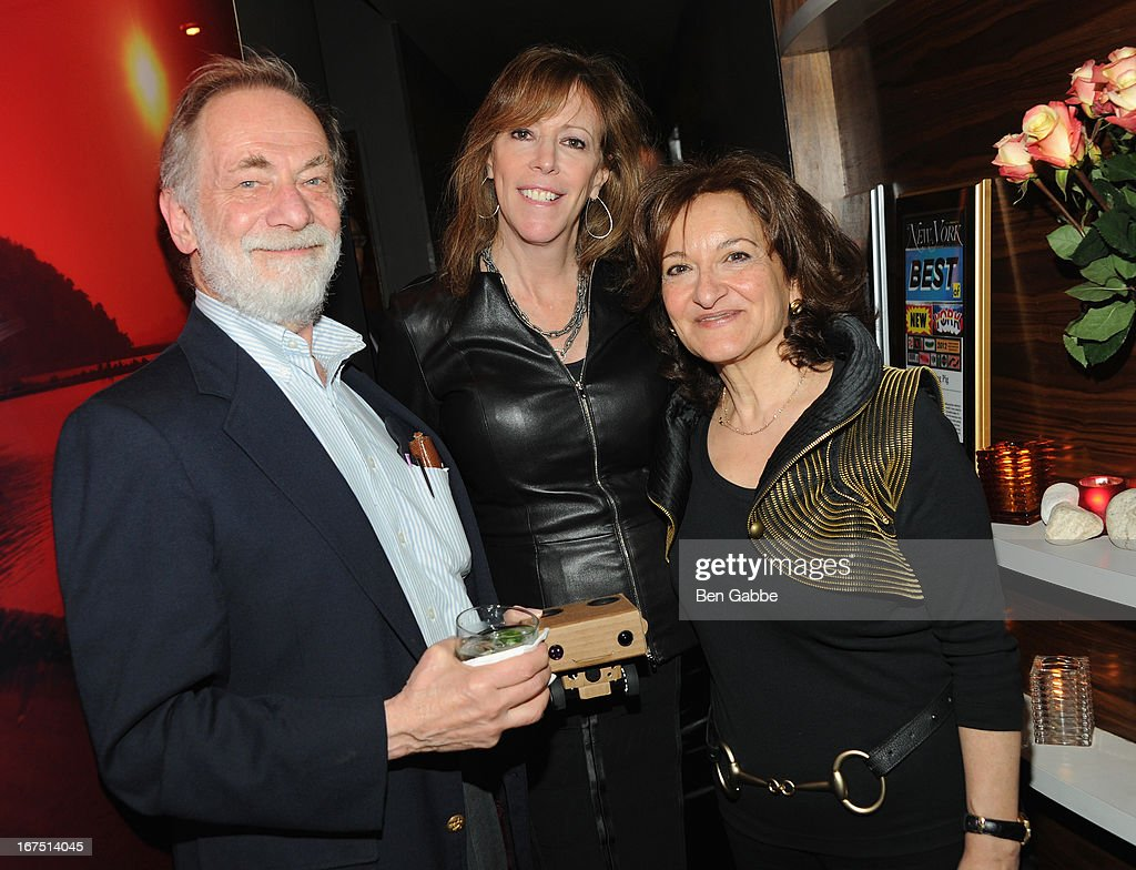 Director Vivienne Roumani and Producer Morton Denn poss with Tribeca Film Festival Co Founder Jane Rosentahal at the 'Out of Print' Tribeca Film Festival After Party on April 25, 2013 in New York City.