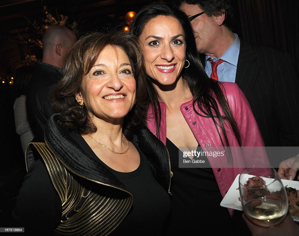 Director Vivienne Roumani with Dani Mathaos pose at the 'Out of Print' Tribeca Film Festival Premiere And After Party on April 25, 2013 in New York City.