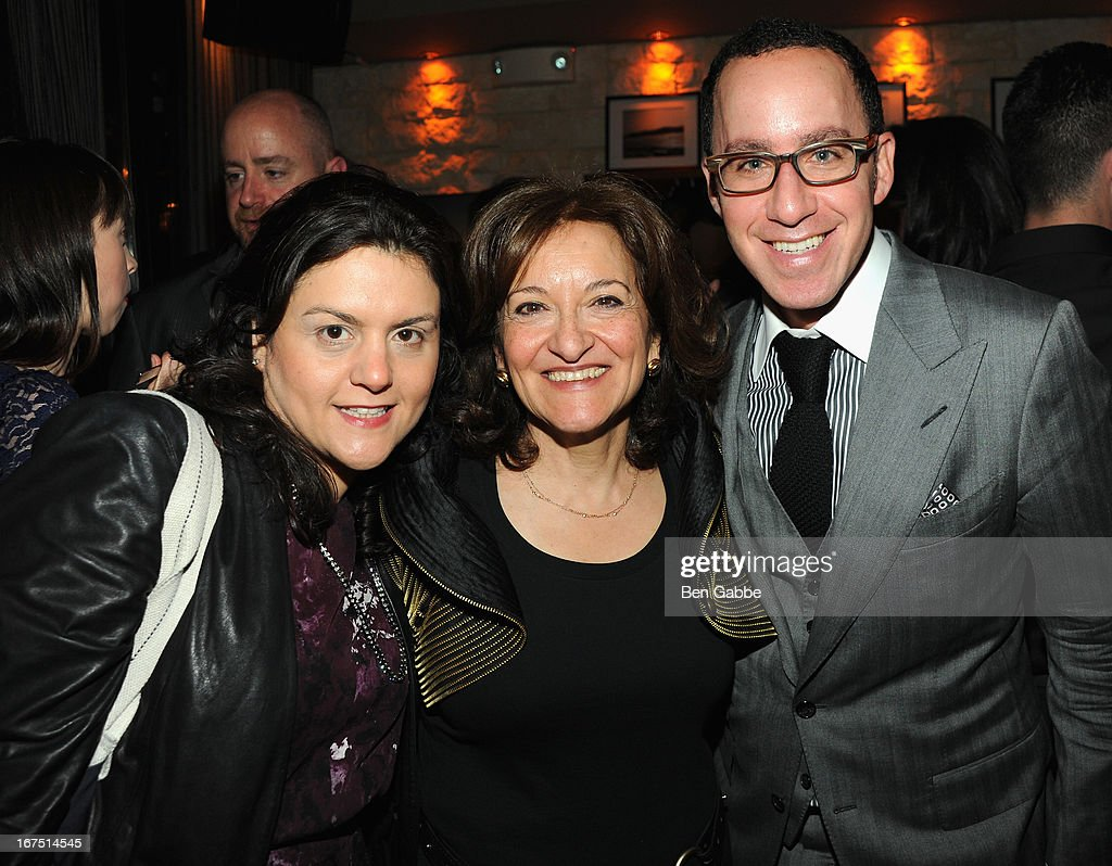 Director Vivienne Roumani with Wendy Modlin and Adam Modlin pose at the 'Out of Print' Tribeca Film Festival Premiere And After Party on April 25, 2013 in New York City.