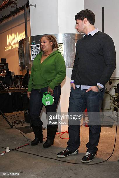 Director Vlad Yudin and Liza Rios widow of Big Pun attend a screening of 'Big Pun The Legacy' in the Magic Johnson Theatre at the Hip Hop Culture...