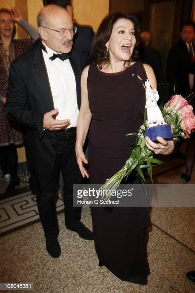 Director Volker Schloendorff and actress Hannelore Elsner attend the Bavarian Movie Awards 2011 at Prinzregententheater on January 14 2011 in Munich...