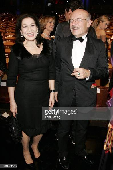 Director Volker Schloendorff and actress Hannelore Elsner attend the afterparty of the Bavarian Movie Award at Prinzregententheater on January 15...