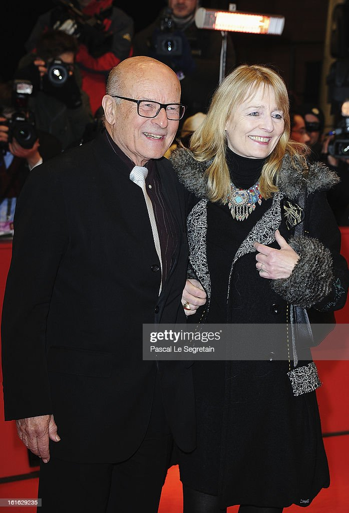 Director Volker Schloendorff and his wife Angelika Schloendorff attend the 'Night Train to Lisbon' Premiere during the 63rd Berlinale International Film Festival at the Berlinale Palast on February 13, 2013 in Berlin, Germany.
