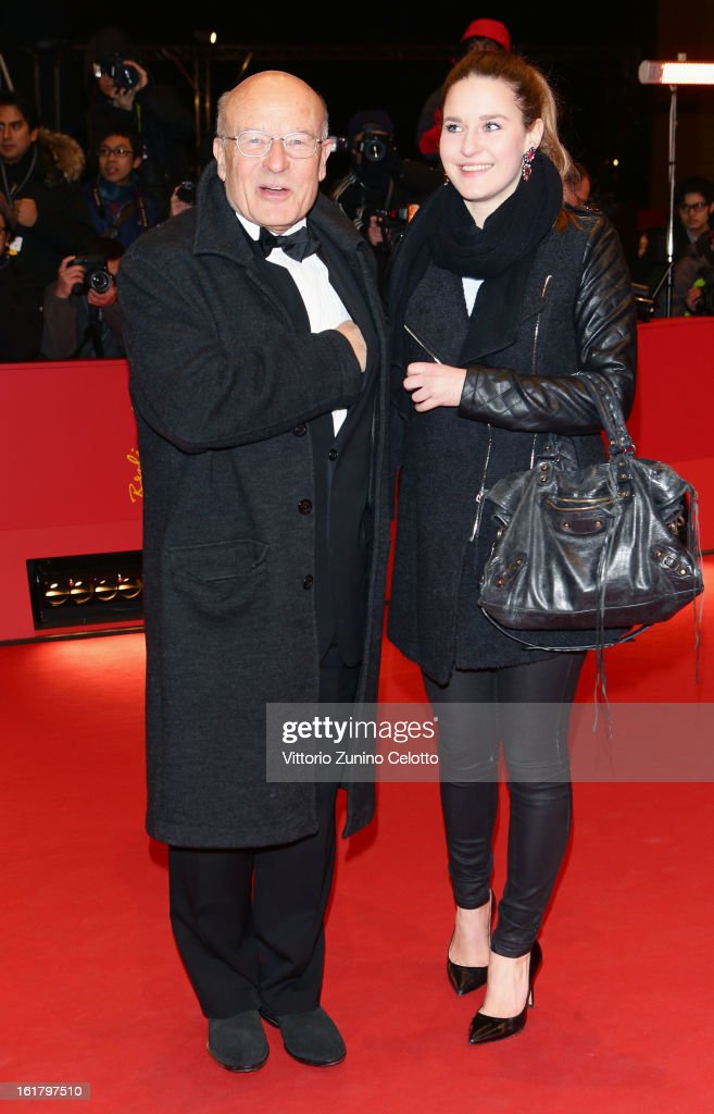 Director Volker Schloendorff with his daughter Elena attend the Closing Ceremony of the 63rd Berlinale International Film Festival at Berlinale Palast on February 14, 2013 in Berlin, Germany.