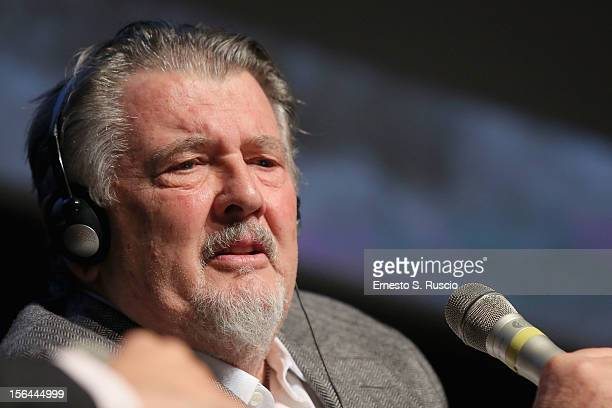 Director Walter Hill speaks on stage at a Meets The Audience session during the 7th Rome Film Festival at the Auditorium Parco Della Musica on...