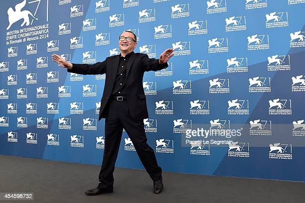 Director Wang Xiaoshuai attends the 'Red Amnesia' photocall during the 71st Venice Film Festival on September 4 2014 in Venice Italy