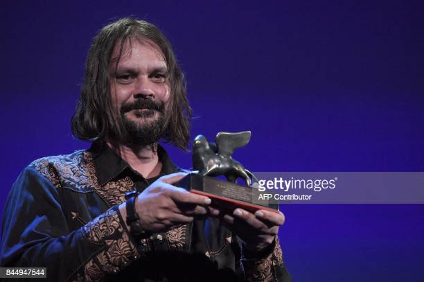 Director Warwick Thornton receives the Special Jury Prize for the movie 'Sweet Country' during the award ceremony of the 74th Venice Film Festival on...