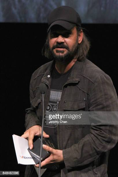 Director Warwick Thornton speaks on stage after being awarded the 2017 Toronto Platform Prize for 'Sweet Country' at the 2017 TIFF Awards Ceremony at...