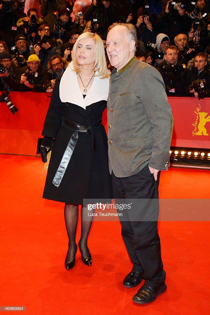 Director Werner Herzog with his wife Lenaattends the  Queen of the